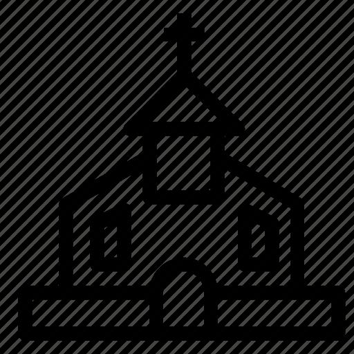 building, catholic, church, religious icon