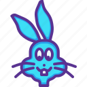 animal, bunny, cute, easter, rabbit icon
