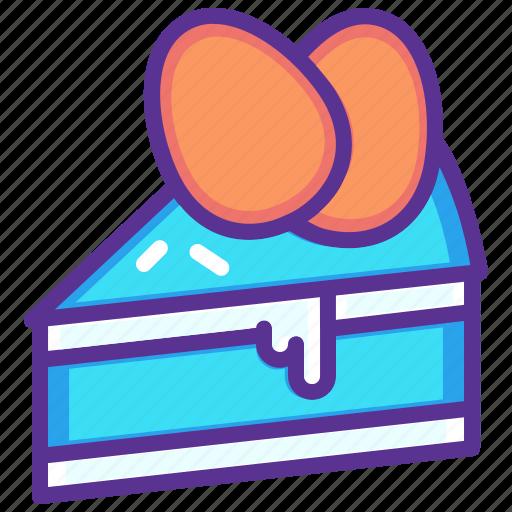 cake, dessert, easter, egg, paschal, slice icon