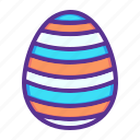 decorated, decoration, easter, egg, paschal, stripes, waves