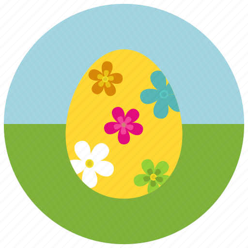 coloured, easter, egg icon