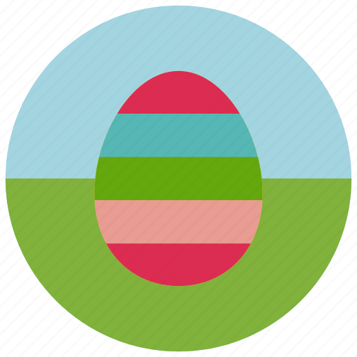 coloured, easter, egg icon
