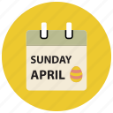 easter, easter calendar, easter day icon