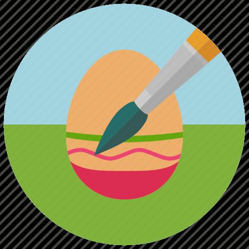 colouring egg, easter, egg icon
