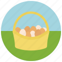 easter, egg basket icon