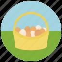 easter, egg basket icon
