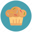 cup cake, sweets, easter, candy icon