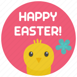chick, easter, happy icon