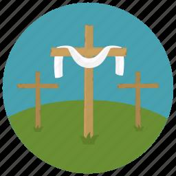 christ, cross, easter, risen icon