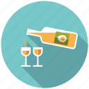 advocaat, bottle, drink, easter, egg, holidays, liqueur icon
