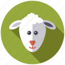 animal, easter, face, holidays, lamb, religion, sheep icon