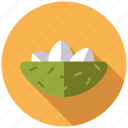 basket, easter, eggs, gift, grass, holidays, nest icon