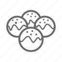 asia, eastern, food, noodle, restaurant, takoyaki icon