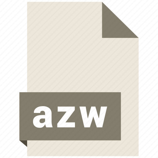 azw, document, ebook, file, format icon