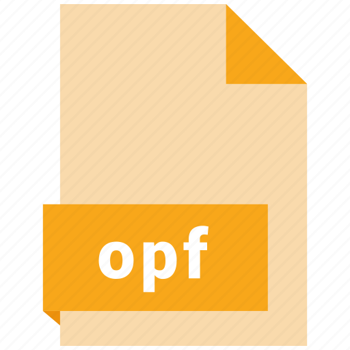 document, ebook, file, format, opf icon