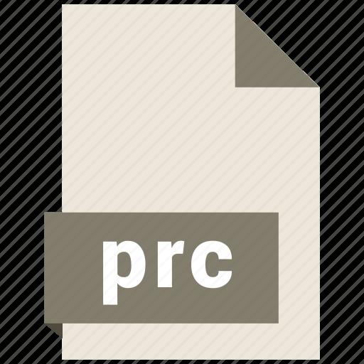 document, ebook, file, format, prc icon