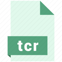 document, ebook, file, format, tcr icon