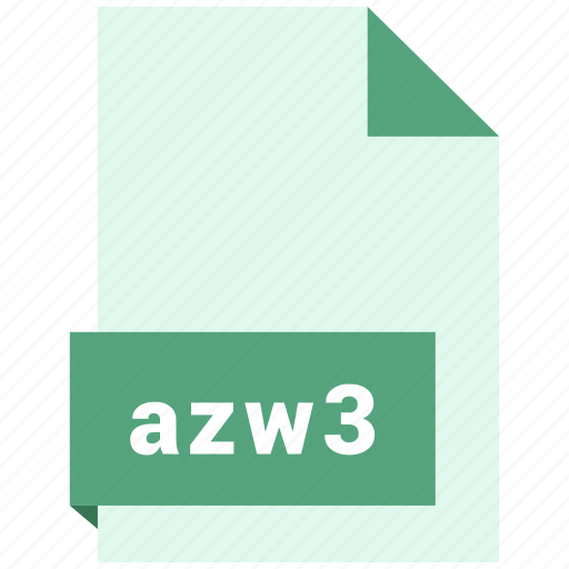 azw3, document, ebook, file, format icon