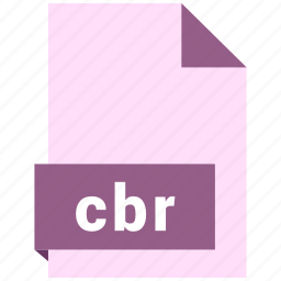 cbr, document, ebook, file, format icon