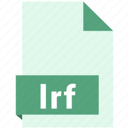 document, ebook, file, format, lrf icon