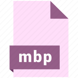 document, ebook, file, format, mbp icon