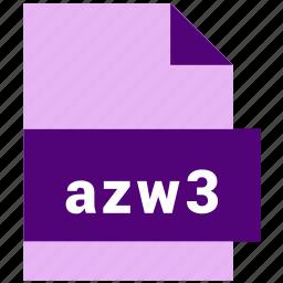 azw3, ebook, ebook file format icon