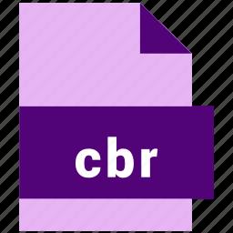 cbr, ebook, ebook file format icon