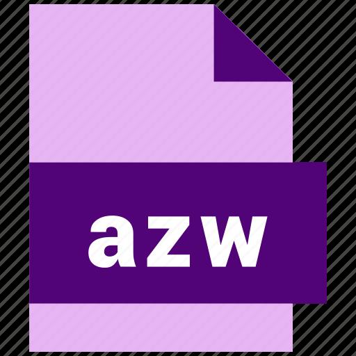 azw, ebook, ebook file format icon