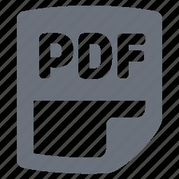 e-book, ebook, file, pdf, pdf document, pika, reading, simple icon