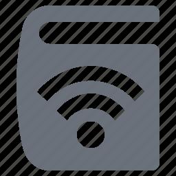 e-book, ebook, pika, reading, simple, wireless book icon