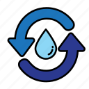 eco, energy, environment, green, nature, recycle, water icon