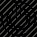 circle, control, energy, power icon
