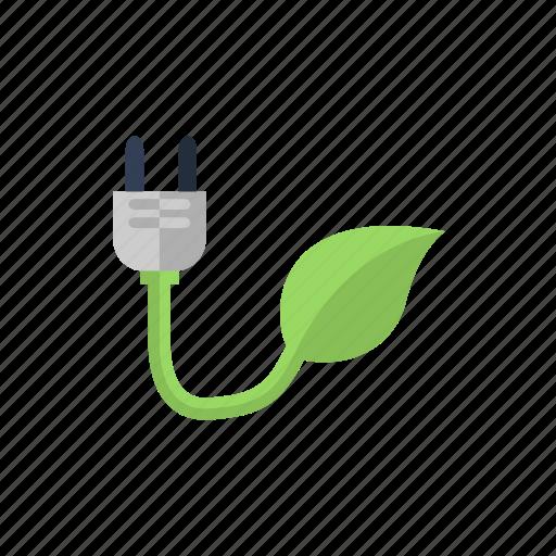 bio, concept, eco, electricity, plug icon icon