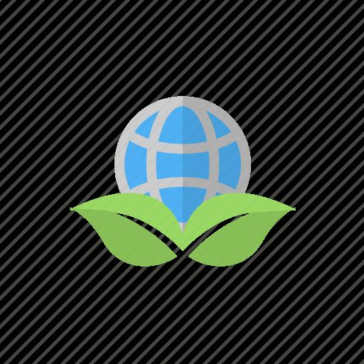 earth, eco, globe, nature icon icon