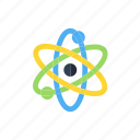 .svg, atom, physics, proton, science icon icon