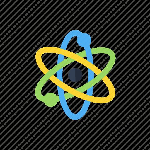 atom, physics, proton, science icon icon