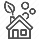 ecological, ecology, house, leaf, oxygen, plant, power icon