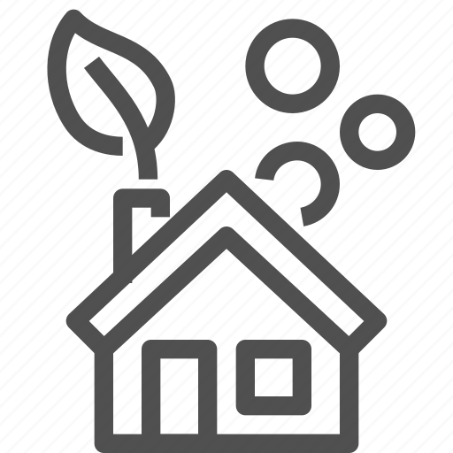 ecological, ecology, house, leaf, oxygen, plant, power icon