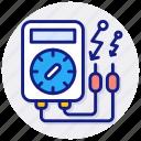 ohmmeter, ammeter, current, detecting, meter, electrometer, galvanometer, digital, device, electric, voltmeter, plug