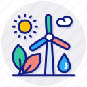 renewable, energy, ocean, ecology, recycling, sustainable, green, leaf, turbine, wind