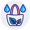 eco, bag, leaf, package, plant, green, pack, ecologic, ecology, and, environment, organic, recycled, shopping icon