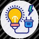 electricity, current, electric, energy, plug, bulb, idea, innovation, innovative, light, ideas