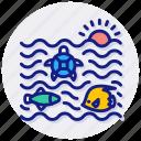 sea, life, ocean, underwater, i, animal, aquarium icon