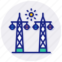power, poles, electricity, energy, ecology, distribution, electric, grid, station, plant