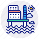 oil, platform, offshore, rig, petroleum, gas, energy, drilling, industry icon