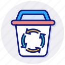 recycling, bin, recycle, container, trash, waste, sorting