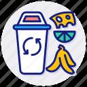 waste, food, garbage, peelings, scraps, vegetables, biodegradable, leftover, household, scrap icon