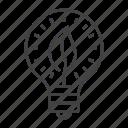 bulb, eco, electricity, energy, friendly, leaf, saving