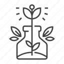 conservation, ecology, environment, flower, nature, plant, vase icon
