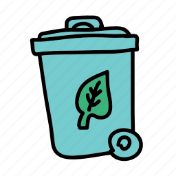 compost, eco, leaf, nature, recycle, trash icon
